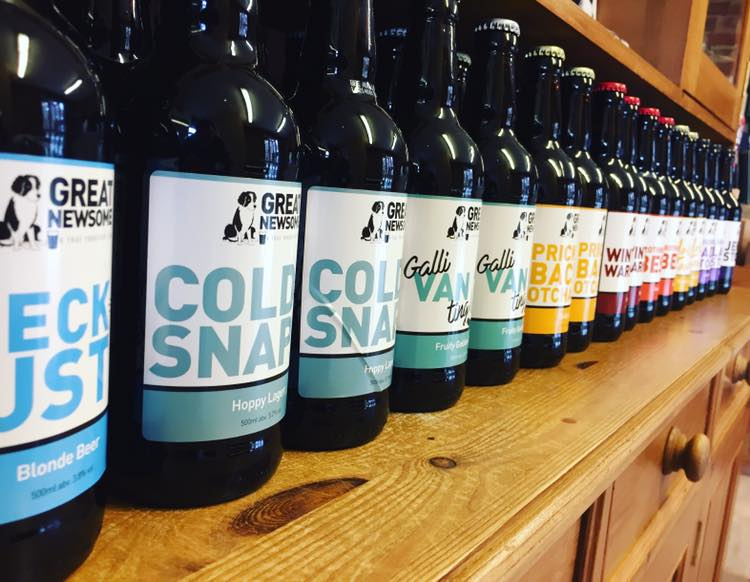 A wide range of bottled beer: all available at our Yorkshire Market stalls